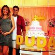 Debby Lagranha e Leandro Franco na festa de chá de bebê de Maria Eduarda