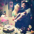 Debby Lagranha e Leandro Franco fazem festa desde o primeiro mês de vida de Maria Eduarda