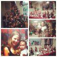 A festinha para comemorar o sétimo mês da pequena Duda, filha de Debby Lagranha, foi em ritmo natalino