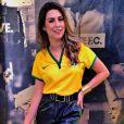 Fernanda Paes Leme mostrou desenvoltura e humor ao comentar o amistoso da Seleção Brasileira contra o Panamá nesta terça-feira, 3 de junho de 2014