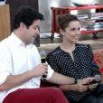 Débora Falabella foi surpreendida pelo namorado, Murilo Benício, no palco do 'Encontro' desta quinta-feira, 5 de junho de 2014
