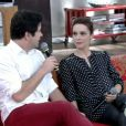 A atriz foi surpreendida pelo namorado, Murilo Benício, no palco do 'Encontro' desta quinta-feira, 5 de junho de 2014