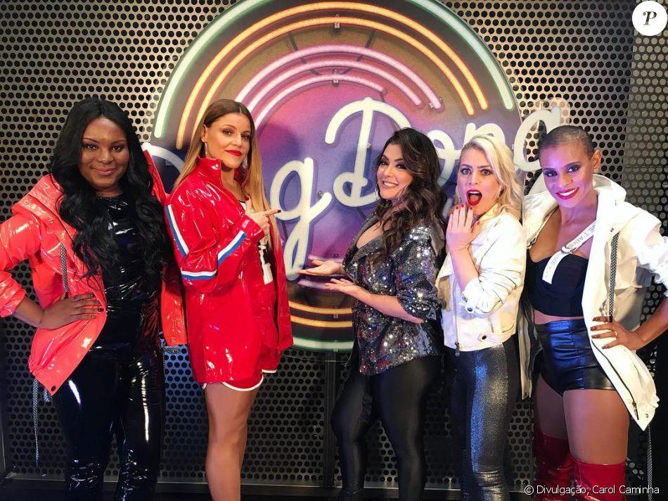 O grupo Rouge participou pela primeira vez do 'Domingão do Faustão' neste domingo