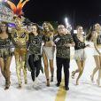 Laís Ribeiro, Adriana Lima, Carol Franceschini, Jasmine Tookes e Bárbara Fialho se divertiram no Carnaval do Rio