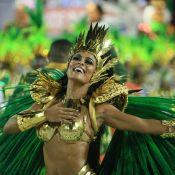 Rainha da Grande Rio, Juliana Paes desfila com mais de 1m de cabelo: 'Crina'