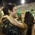 Isis Valverde e o namorado, André Resende, se divertiram no Camarote N1