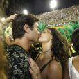 Isis Valverde e André Resende trocaram beijos no Camarote N1