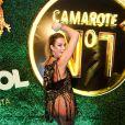 Luana Piovani surpreendeu com look transparente em camarote da Sapucaí