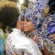 Sheron Menezzes se encontrou com a rainha de bateria da Portela, Bianca Monteiro, e disse não ter vontade de voltar a ocupar o posto. 'Bem representada', afirmou ao jornal 'Extra'