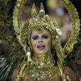 Viviane Araujo mostrou a força da mulher à frente da bateria do Salgueiro no Carnaval 2018