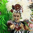 Carla Diaz foi musa do Carnaval da Grande Rio em 2018