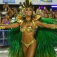 Juliana Paes desfilou pela Grande Rio como rainha de bateria