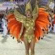 Paloma Bernardi, que já foi rainha de bateria da Grande Rio e, em 2018, desfilou com a diretoria, lamentou o rebaixamento usando uma carinha triste com as cores da escola de samba em seu Instagram Stories