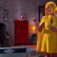 Estefânia (Priscila Sol) descobre que Cassandra (Bárbara Maia) mentiu para Vitor (Thiago Mendonça) e tenta conversar com a enteada, no capítulo que vai ao ar segunda-feira, dia 19 de fevereiro de 2018, na novela 'Carinha de Anjo'