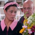 Franciely (Carol Loback) recebe buquê de flores de Silvestre (Blota Filho), mas acredita ter sido entregue por Ribeiro (Carlos Mariano), no capítulo que vai ao ar quinta-feira, dia 22 de fevereiro de 2018, na novela 'Carinha de Anjo'