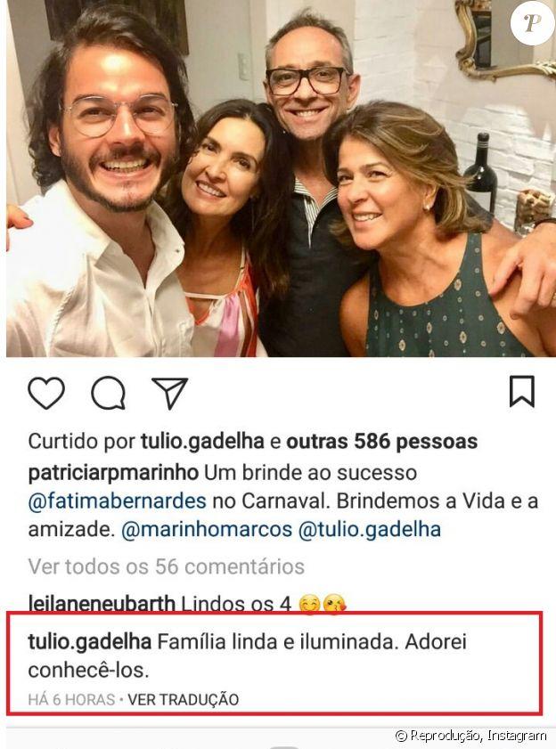 Túlio Gadêlha encontra amigos de Fátima e comemora: 'Adorei conhecê-los'