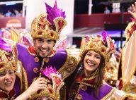 Caio Castro e a namorada, Mariana D'Ávila, desfilam pela Águia de Ouro. Fotos!