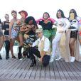 Gio Ewbank e mais famosas posam com Anitta antes do Bloco das Poderosas