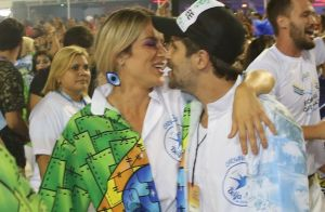 Bruno Gagliasso e Gio Ewbank desfilam em ala da diretoria da Beija-Flor. Fotos!