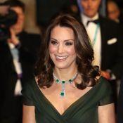 Kate Middleton gera comentários na imprensa ao usar vestido verde no Bafta 2018