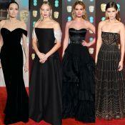 Angelina Jolie, Jennifer Lawrence e mais famosas deixam ombros à mostra no BAFTA