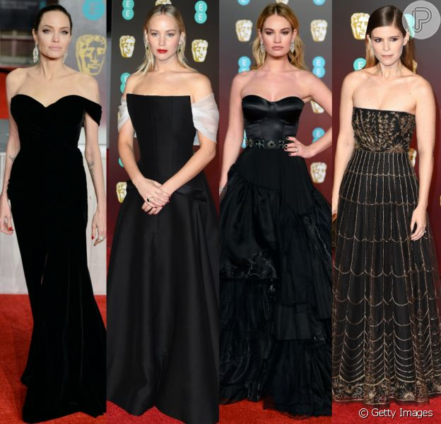 Famosas esbanjam glamour no red carpert do British Academy Film Awards, o BAFTA, realizado no salão de espetáculos Royal Albert Hall, em Londres, na noite deste domingo, 18 de fevereiro de 2018