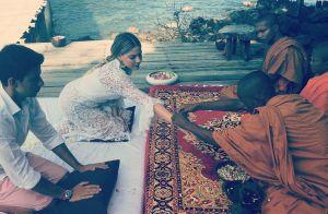 Luma Costa renova votos de casamento em cerimônia budista: 'Momento só nosso'