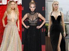 Decote e fenda: veja as escolhas de Jennifer Lawrence para lançar 'Red Sparrow'