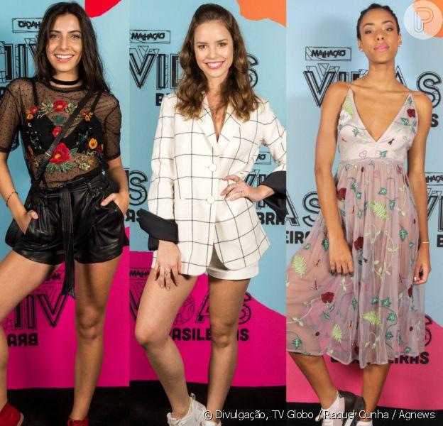 Atrizes apostam em looks descolados e modernos no lançamento da novela 'Malhação: Vidas Brasileiras', realizado nesta terça-feira, 20 de fevereiro de 2018