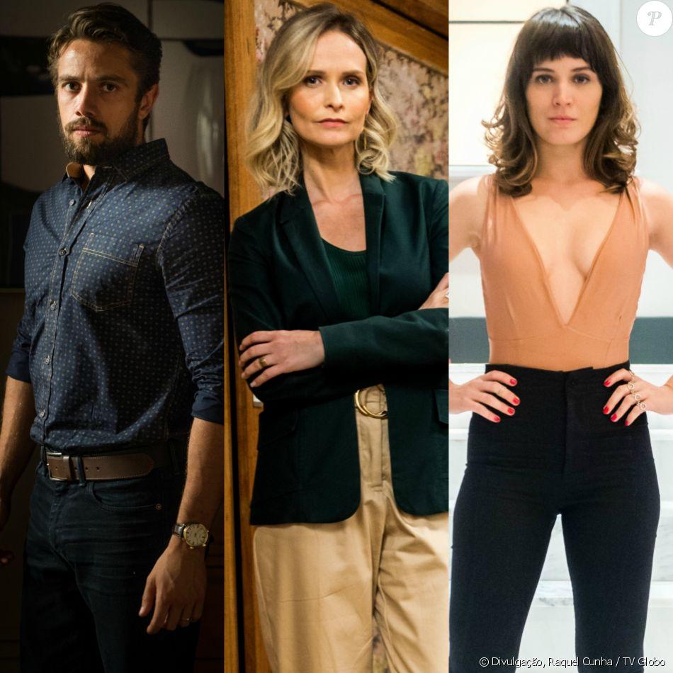 Renato (Rafael Cardoso) se casa com Fabiana (Fernanda Rodrigues) para conseguir pegar a fortuna de Clara (Bianca Bin), na novela 'O Outro Lado do Paraíso'