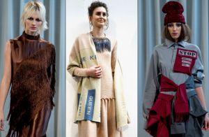 Moda em Milão: grifes apostam em franjas, meias e feminismo no inverno 2019
