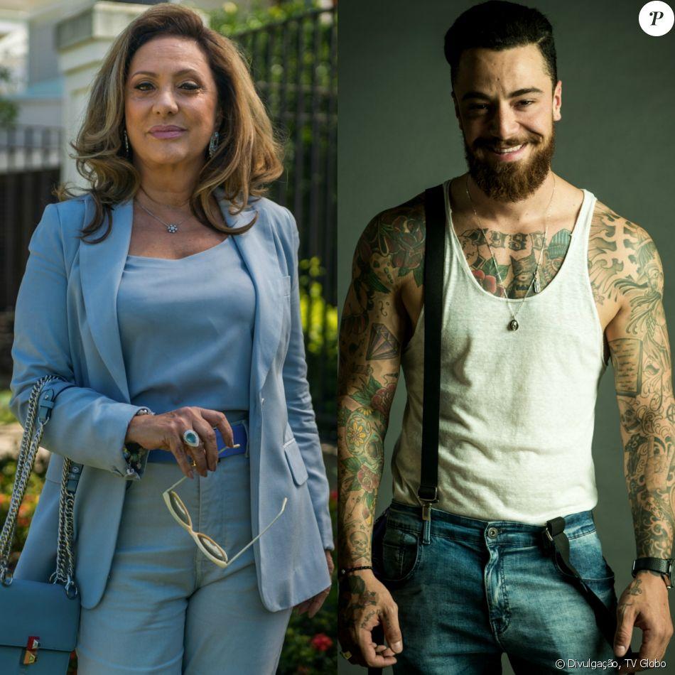 Nádia (Eliane Giardini) leva Odair (Felipe Titto) para morar em sua casa com Bruno (Caio Paduan), Diego (Arthur Aguiar) e Karina (Malu Rodrigues), na novela 'O Outro Lado do Paraíso'