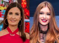 Fátima Bernardes ganha elogio de Marina Ruy Barbosa por cabelo escovado: 'Amei'