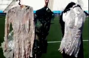 Jennifer Lopez mostra roupas para usar na abertura da Copa: 'Tentando decidir'
