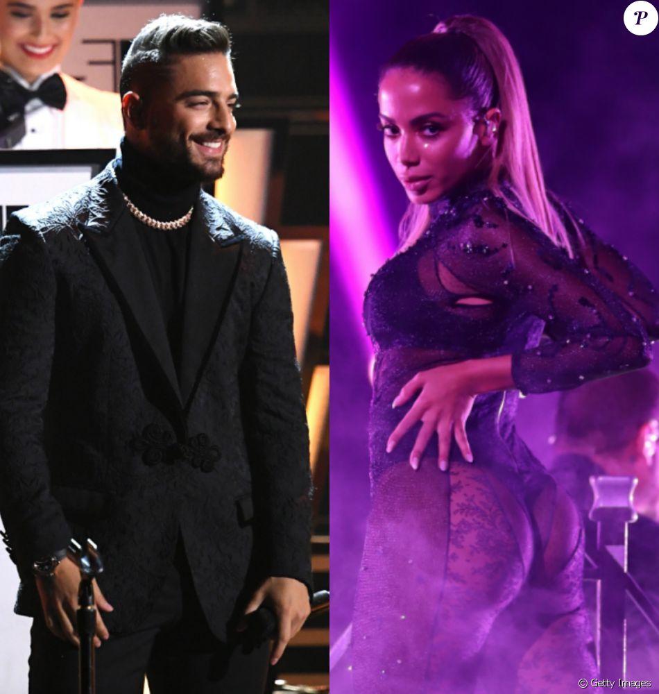 Maluma assiste performances de Anitta em premiação nos Estados Unidos