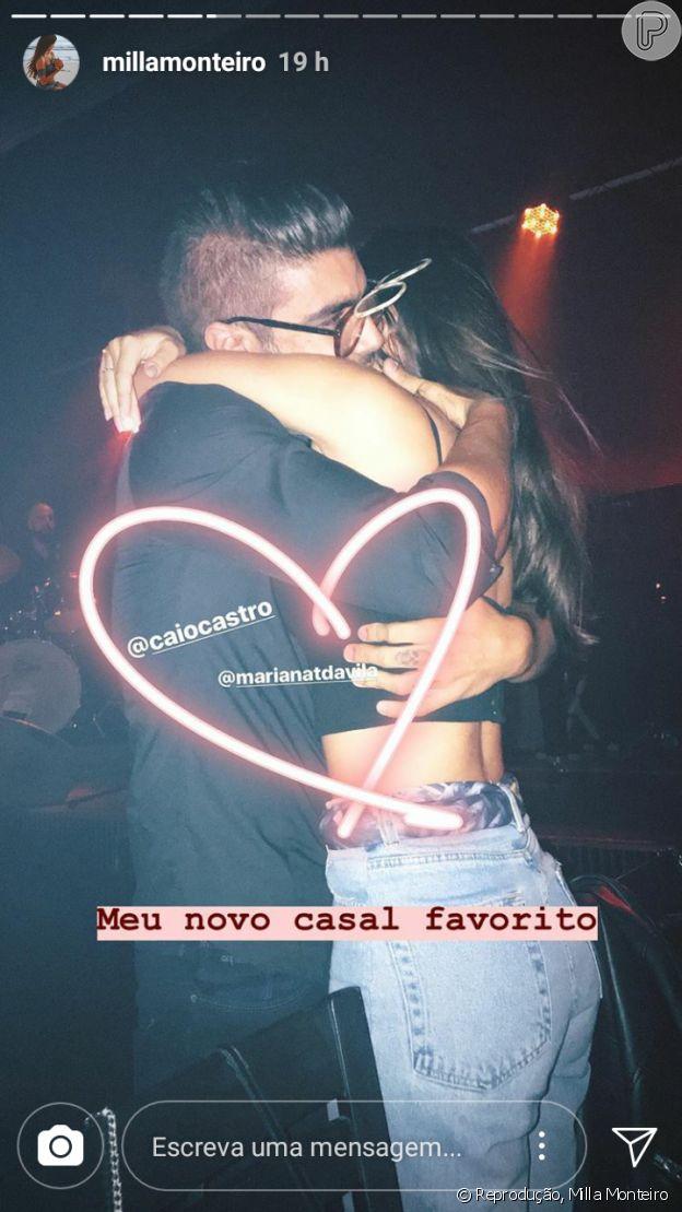 Caio Castro e a namorada, Mariana D' Ávila, foram elogiados por amiga da modelo: 'Meu novo casal favorito'