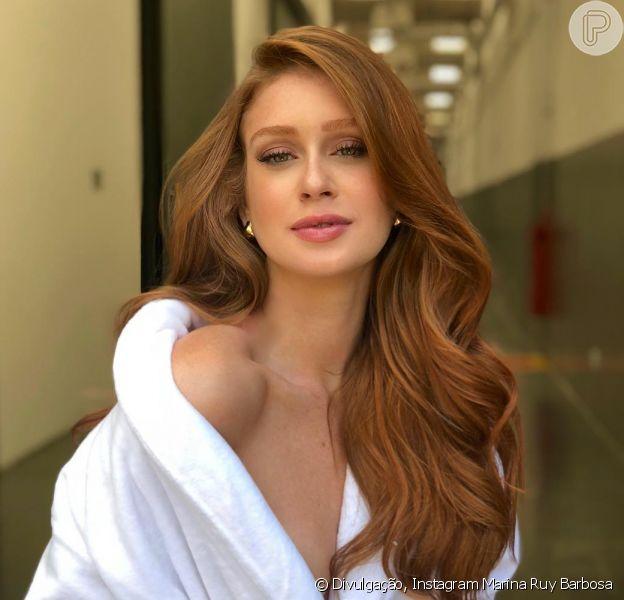Marina Ruy Barbosa trabalhou em uma campanha publicitária neste domingo, 25 de fevereiro de 2018
