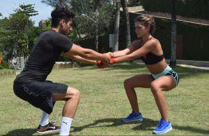 Personal explica treino de Mariana Goldfarb: 'Muay thai com exercício funcional'