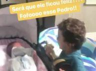 Patricia Abravanel filma filhos nos bastidores do Troféu Imprensa: 'Fofo'. Vídeo