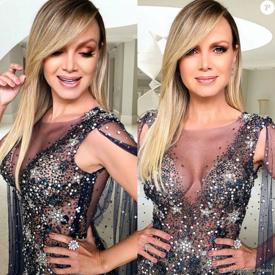 Eliana usa look com transparência no Troféu Imprensa nesta terça-feira, dia 27 de fevereiro de 2018