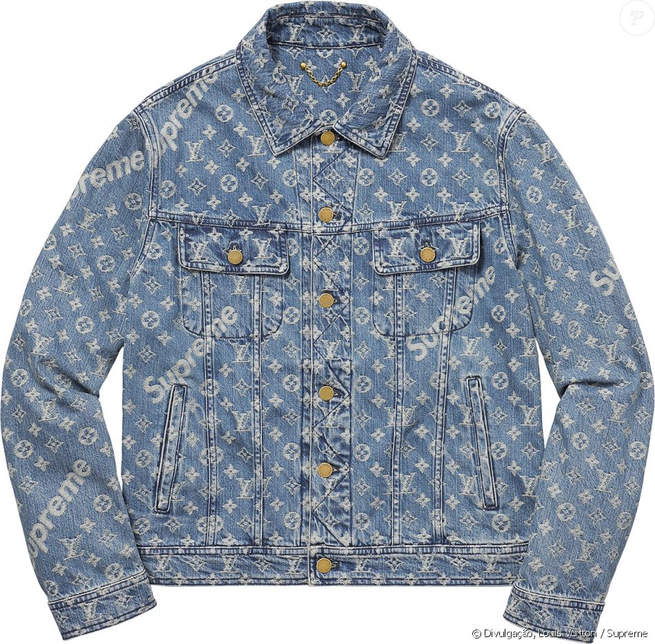 jaqueta jeans louis vuitton e supreme é avaliada entre r 12 mil à r