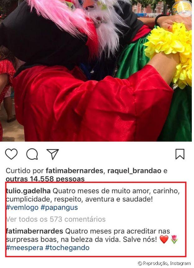 Túlio Gadêlha comemora 4 meses de namoro com Fátima Bernardes