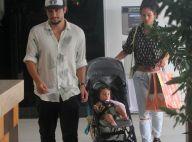 Bruno Gissoni curte passeio em shopping com a filha e Yanna Lavigne. Fotos!