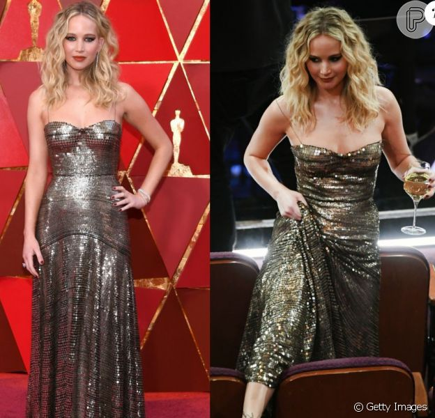 Jennifer Lawrence salta cadeiras e aborda Meryl Streep no Oscar 2018