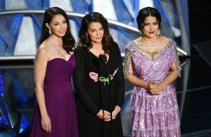 Salma Hayek e mais atrizes fazem discurso contra assédio no Oscar 2018. Fotos!