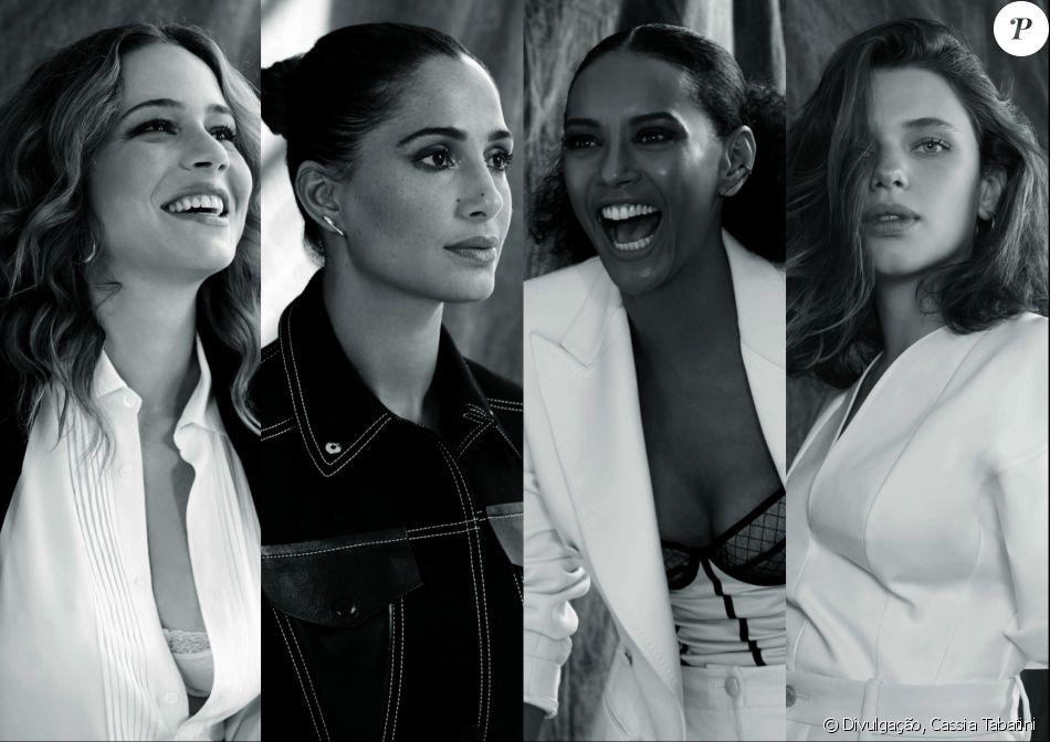 Leandra Leal,  Camila Pitanga, Tais Araújo e  Bruna Linzmeyer são  representantes e defensoras do movimento feminista brasileiro