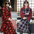Anna Wintour usa looks estampados para prestigiar os desfiles da Semana de Moda de Paris com coleções de outono e inverno de 2019