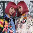 Ami e Aya Susuki abusam das estampas para prestigiar os desfiles da Semana de Moda de Paris com coleções de outono e inverno de 2019