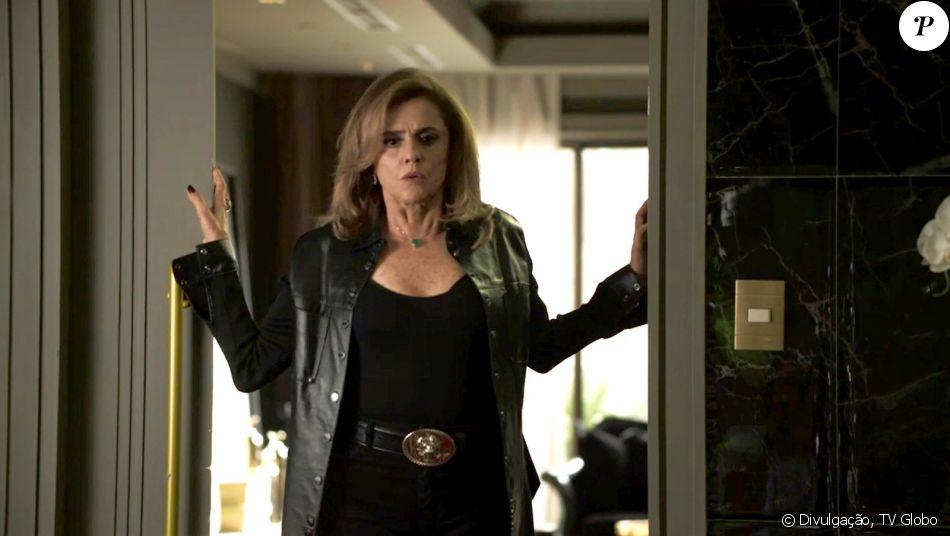 Sophia (Marieta Severo) é flagrada por Zé Victor (Rafael Losso) ao assassinar Mariano (Juliano Cazarré), nos próximos capítulos da novela 'O Outro Lado do Paraíso': 'Não tem como explicar'