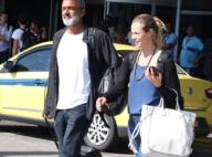 Paolla Oliveira e namorado, Rogério Gomes, deixam aeroporto no RJ juntos. Fotos!